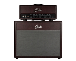 Suhr Limited Edition Hedgehog Head and 2x12 Cabinet in Wine Taurus