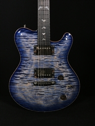 Nik Huber Dolphin II in BlueBurst with Dolphin Inlays and Quilt Maple Top