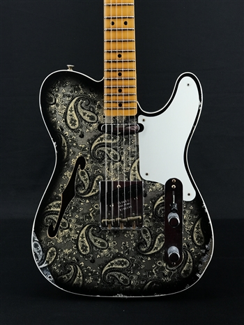 Fender Custom Shop Limited Edition Double Esquire Custom Relic In Aged Black Paisley