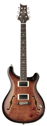PRS SE Hollowbody II Piezo in Black Gold Burst
