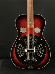 Beard Deco Phonic Model 37 Squareneck Resonator in Scarlet Sunburst with Fishman Electronics