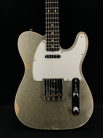 Fender Custom Shop NAMM Limited 1961 Tele Custom Relic in Aged Silver Sparkle