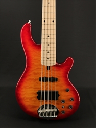 Lakland Skyline 55-02 Deluxe in Cherry Sunburst with Maple Fretboard