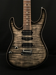 Suhr Left-Handed Modern Plus in Transparent Charcoal Burst with Pau Ferro Fingerboard
