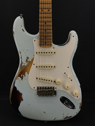 Fender Custom Shop Limited Edition 56 Heavy Relic Strat in Sonic Blue over Sunburst
