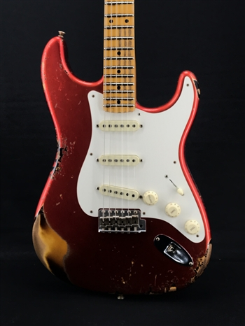 Fender Custom Shop Limited Edition 56 Heavy Relic Strat in Candy Apple Red over Sunburst