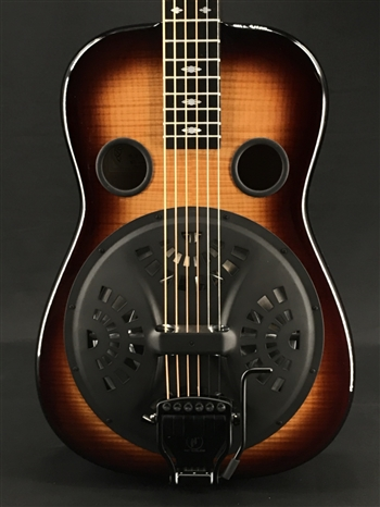 Beard E-Model Squareneck Resonator in Creme Brulee with Doubleshot Bridge