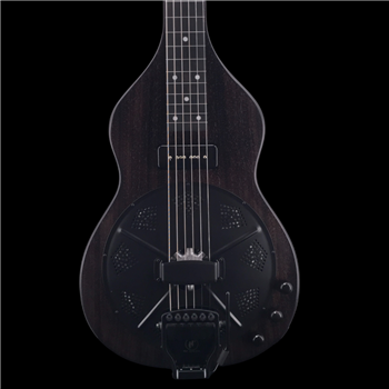 Beard Road-O-Phonic Resonator Lap Steel in Satin Black Ice with Doubleshot Bridge