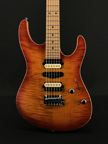 Suhr Modern Satin Flame Limited Edition in Honey Burst