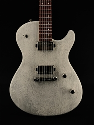Skermetta Guitars Petros R-100 in White Doghair Satin