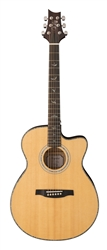 PRS SE Angeles AE55E Acoustic-Electric in Natural with Black Gold Burst Back