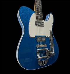Fender Custom Shop NOS TV Jones Bigsby Tele in Blue Sparkle