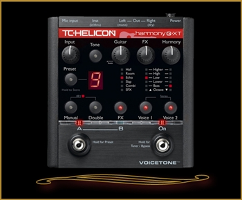 TC-Helicon VoiceTone Harmony-G XT Vocal Harmony and Effects for Guitarists