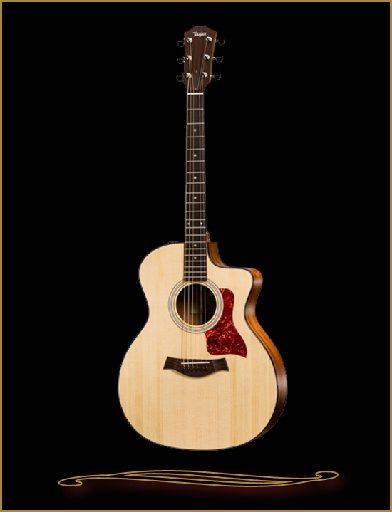 taylor 114ce grand auditorium acoustic electric with cutaway. Black Bedroom Furniture Sets. Home Design Ideas