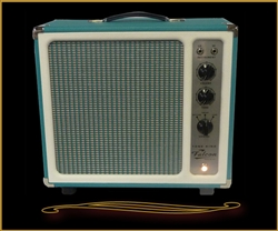 Tone King Falcon 12 Watt Combo in Turquoise  with Built-in Attenuator at The Guitar Sanctuary
