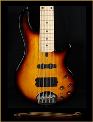 Lakland Skyline 55-02 in Tobacco Sunburst with Maple Fingerboard