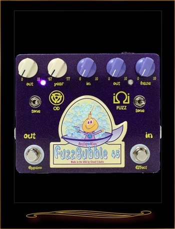 Analog Alien FuzzBubble 45 Fuzz and Overdrive Pedal