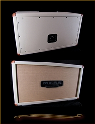 Mesa Boogie 2x12 Horizontal Rectifier Cabinet in Cream Bronco with Tan Grille at The Guitar Sanctuary McKinney Texas