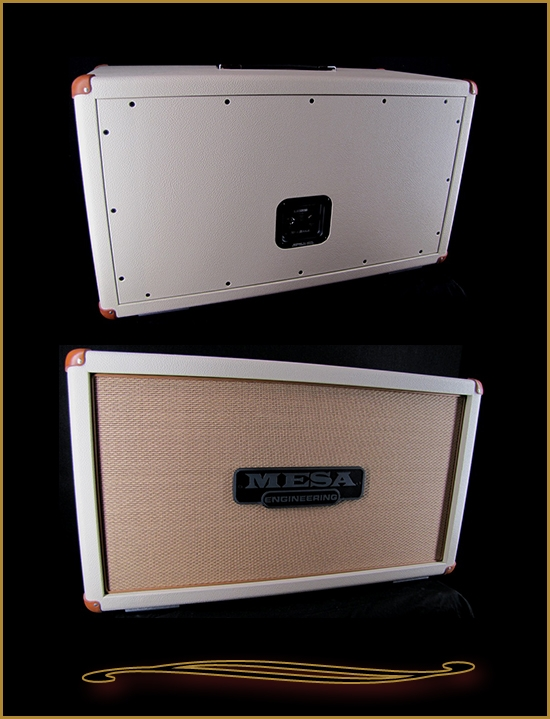 Mesa Boogie 2x12 Horizontal Rectifier Cabinet In Cream Bronco With Tan  Grille At The Guitar Sanctuary