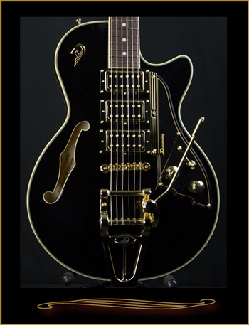 Duesenberg Starplayer TV Custom in Black at The Guitar Sanctuary McKinney Texas