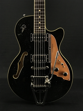 Duesenberg Starplayer TV in Black Sparkle at The Guitar Sanctuary McKinney Texas