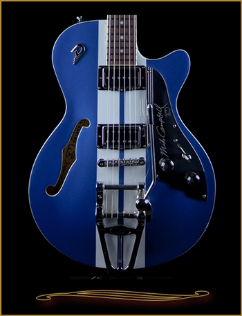 Duesenberg Mike Campbell I Signature Model TV in Blue and White