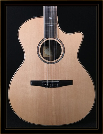 Taylor 814CE-N Rosewood & Spruce Grand Auditorium Nylon String at The Guitar Sanctuary McKinney Texas