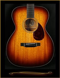 Collings OM1 in Full Body Sunburst with Mahogany Top, Fingerboard Purfling, and Binding at The Guitar Sanctuary McKinney Texas