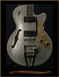Duesenberg Starplayer TV in Silver Sparkle at The Guitar Sanctuary McKinney Texas