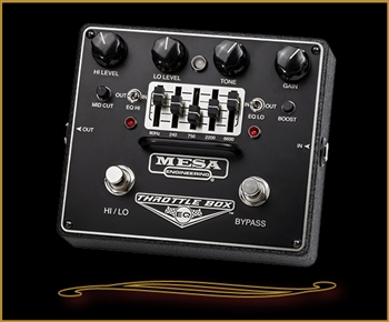 Mesa Boogie THROTTLE BOX EQ- Dual-Mode Distortion Pedal with Assignable 5-Band Graphic EQ