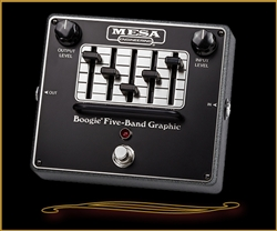 "Mesa Boogie GRAPHIC EQ Pedal- Legendary ""Boogie"" 5-Band Graphic EQ in a Pedal"