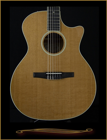 Taylor 514CE-N Mahogany Grand Auditorium Nylon String at The Guitar Sanctuary McKinney Texas