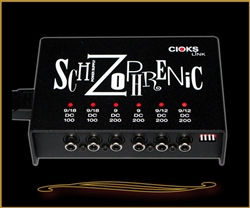Cioks Schizophrenic Expandable Pedalboard Power Supply at The Guitar Sanctuary McKinney Texas