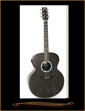 RainSong Black Ice BI-JM1000N2 Jumbo at The Guitar Sanctuary McKinney Texas
