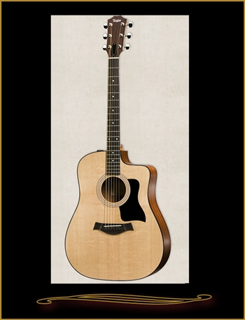 Taylor 110CE Sapele Dreadnought with Cutaway and Electronics at The Guitar Sanctuary McKinney Texas