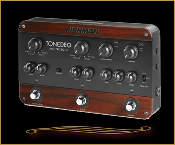 Fishman ToneDEQ Preamp, EQ, and Direct Box for Acoustic Guitar at The Guitar Sanctuary McKinney Texas