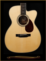 Collings OM3 with Adirondack Spruce Top, Madagascar Rosewood Back and Sides, Cutaway, and Custom Inlay at The Guitar Sanctuary McKinney Texas