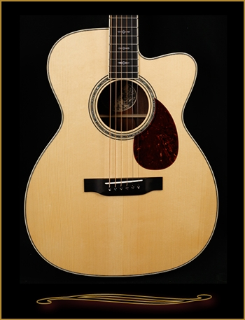 Collings OM3 with Adirondack Spruce Top, Madagascar Rosewood Back and Sides, Cutaway, and Custom Inlay