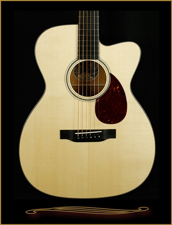 Collings OM1 with German Spruce Top and Cutaway at The Guitar Sanctuary McKinney Texas
