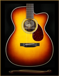 "Collings OM2HA with 1 3/4"" Nut Width, Adirondack Braces, Cutaway, and Sunburst Top at The Guitar Sanctuary McKinney Texas"