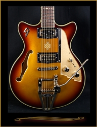 Duesenberg Joe Walsh Signature in Goldburst at The Guitar Sanctuary McKinney Texas