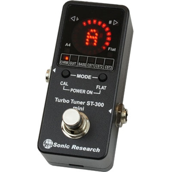 Sonic Research ST-300 Mini Stomp Box Strobe Tuner