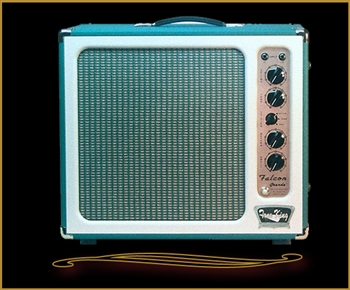 Tone King Falcon Grande in Turquoise and White at The Guitar Sanctuary McKinney Texas