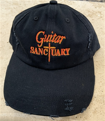 The Guitar Sanctuary Distressed Baseball Cap