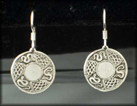 Shield Earrings in Sterling Silver