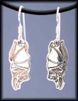 Hanging Bat Earrings