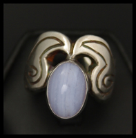 Carnival Ring (with Blue Lace Agate)