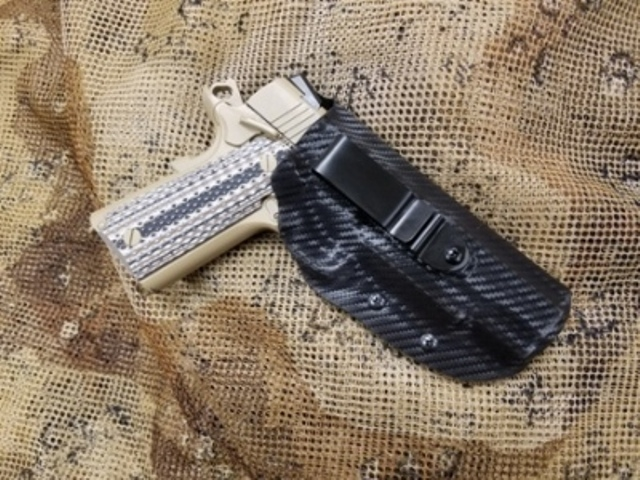 Inside the Waistband Holster IWB with Sweatguard & attached tuckable clip