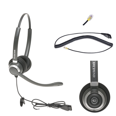 OvisLink Cisco Panasonic phone headset dual and single ear