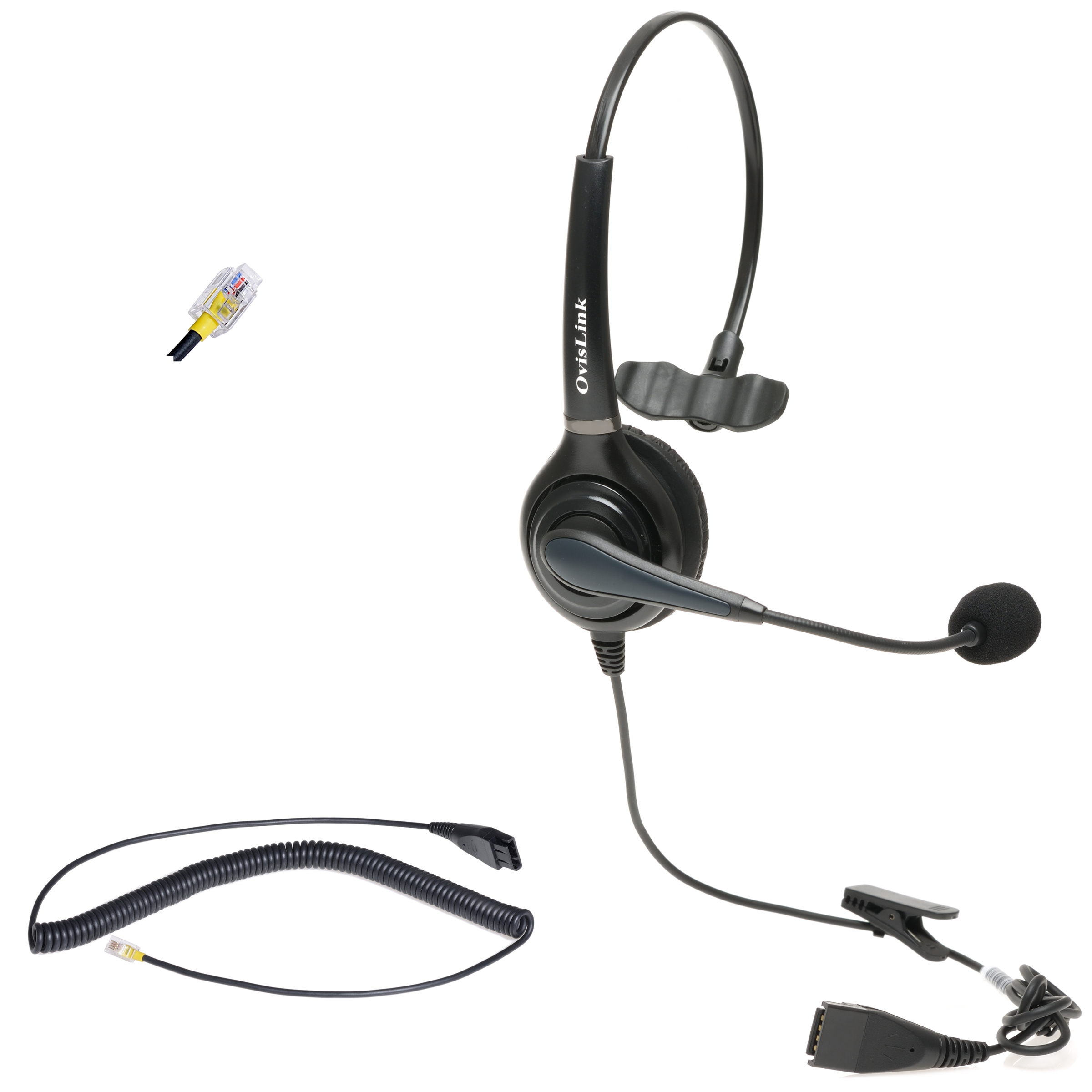 Ovislink Cisco Phone Headset With Rj9 Quick Disconnect Cord